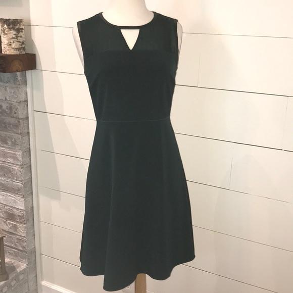 0489430c5d2f Elie Tahari Dresses | Green And Black Sleeveless Midi Dress | Poshmark